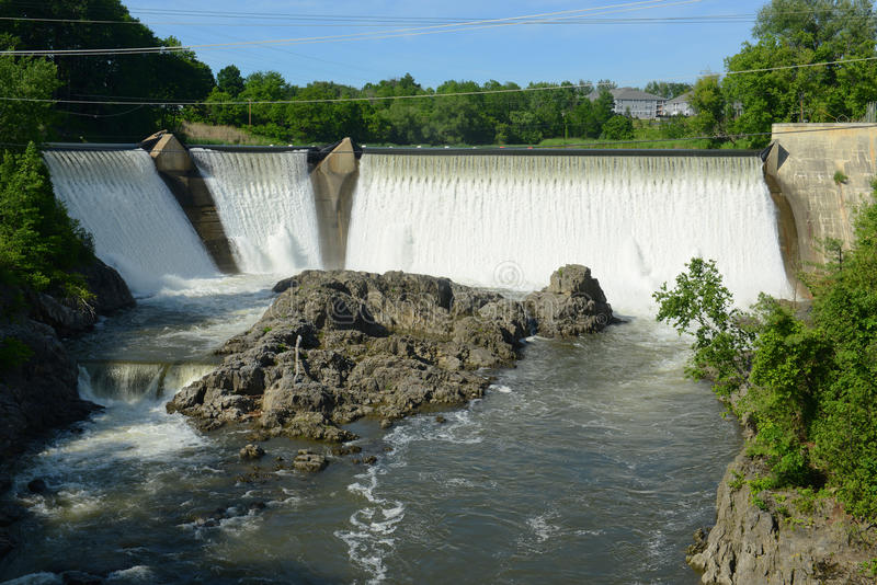 Essex Junction Dam, Vermont, USA royalty free stock images