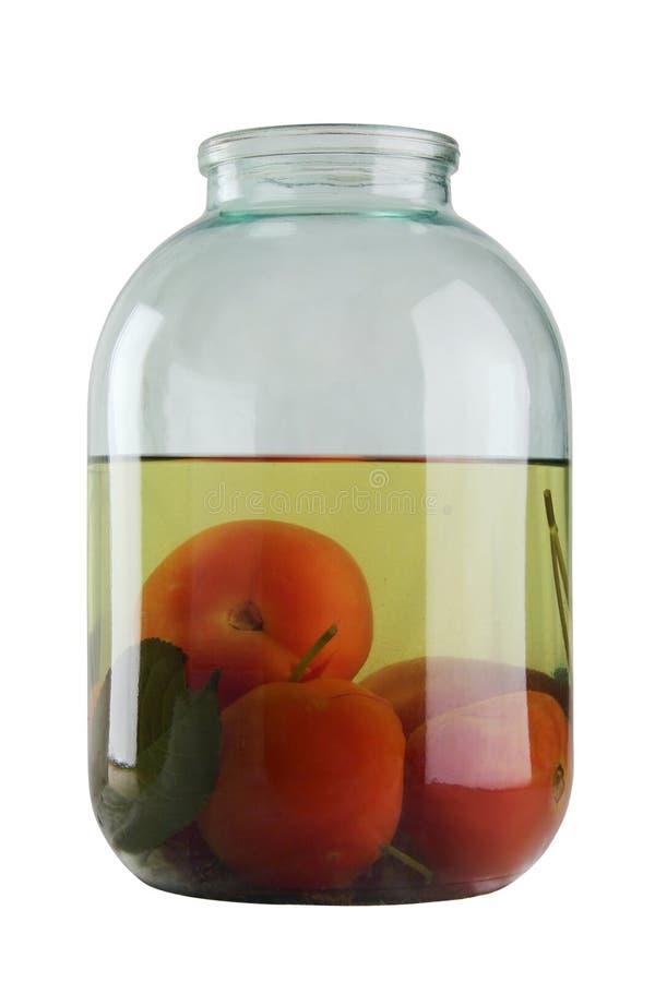 In Essig eingelegte Tomaten lizenzfreies stockfoto