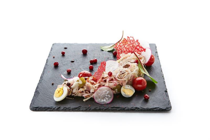 In Essig eingelegter Kohl, mariniertes Gemüse oder gegorenes Lebensmittel Sauerkra stockfotografie