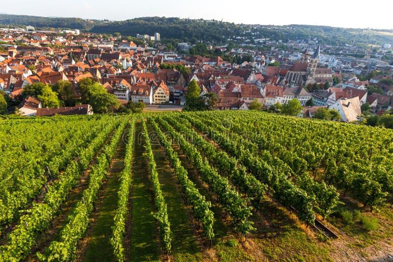 Esslingen Alemania de la ciudad histórica en el río Neckar imagen de archivo libre de regalías