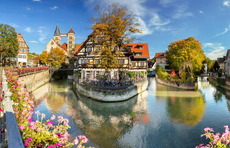 Esslingen am Neckar, Germany, scenic view of the medieval town center stock photography
