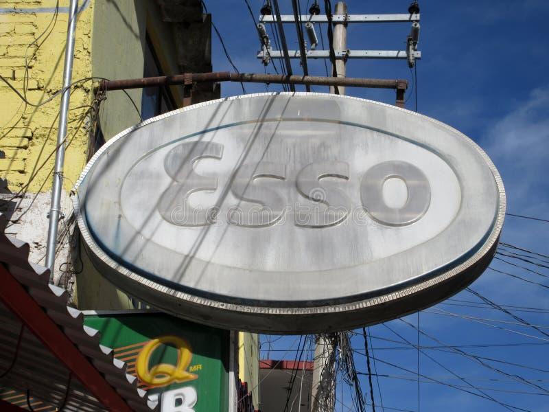 Esso viejo firma adentro Chilpancingo México imagen de archivo