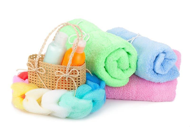 Essuie-main et shampooing photographie stock libre de droits
