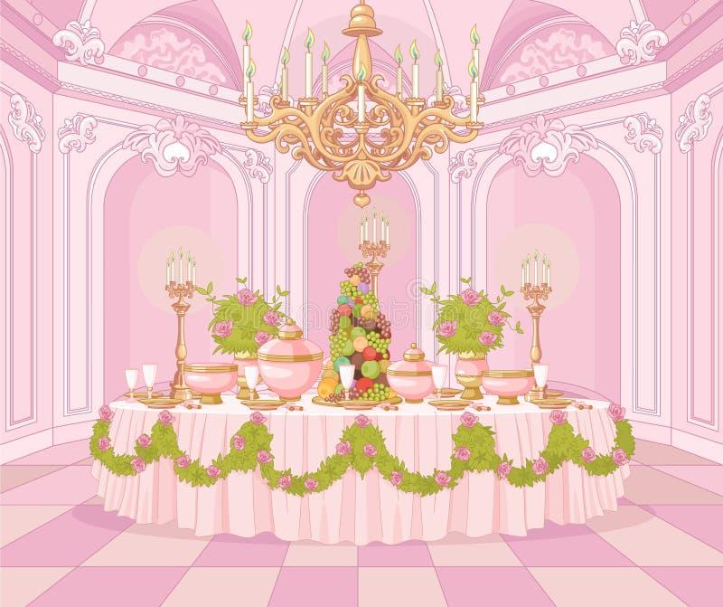 Esszimmer in Prinzessin Palace lizenzfreie abbildung