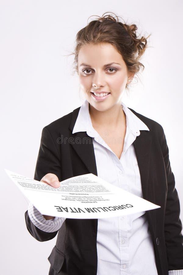 Está aqui meu CV imagem de stock royalty free