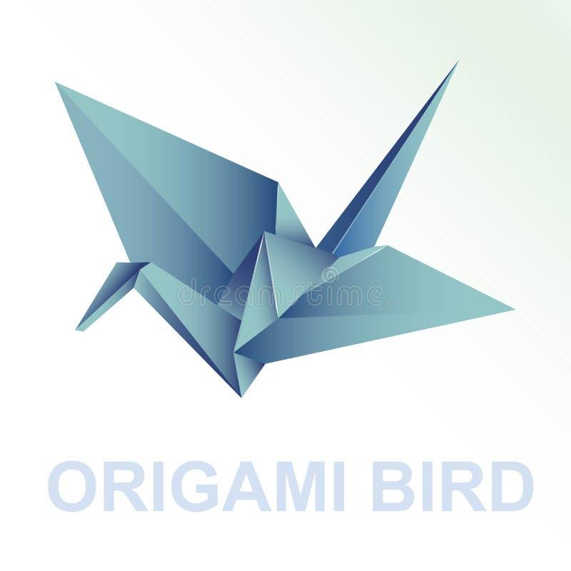 Está aqui uma coleção de pássaros do origâmi ilustração royalty free