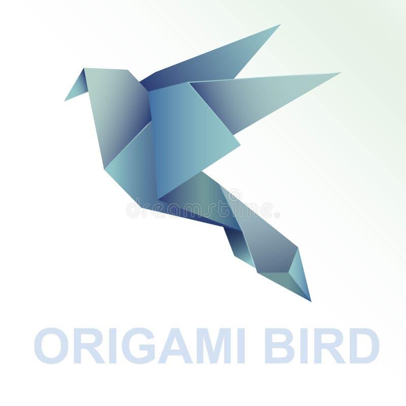 Está aqui uma coleção de pássaros do origâmi ilustração stock
