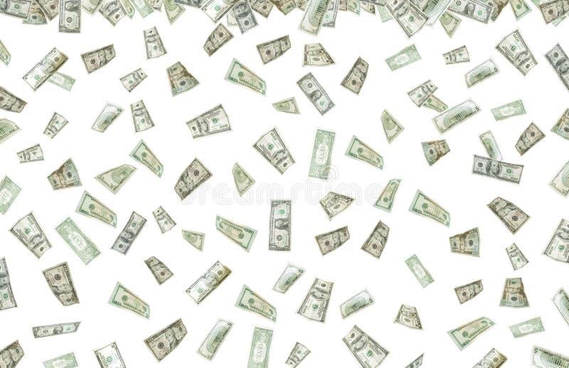 Está chovendo o dinheiro fotos de stock