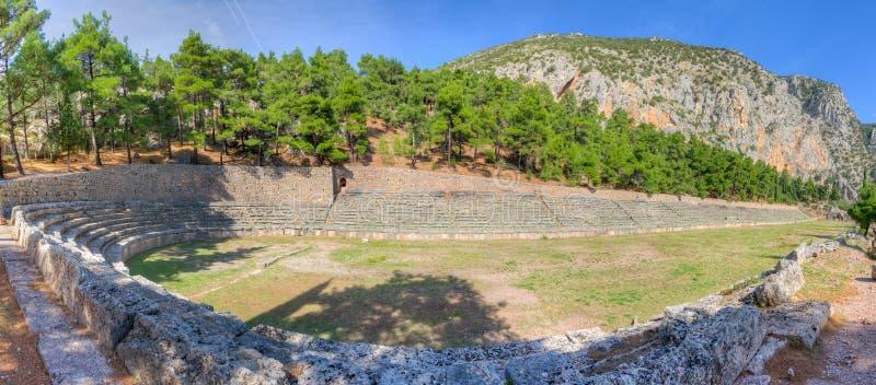 Estádio antigo de Delphi, Greece fotografia de stock royalty free