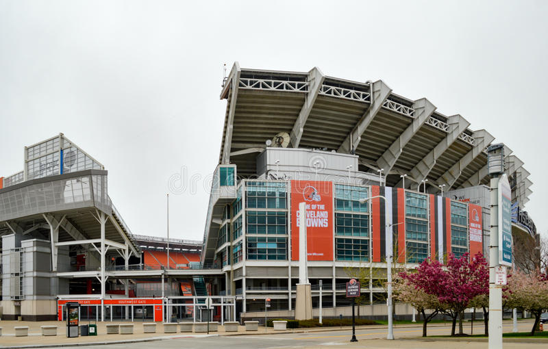 Estádio Cleveland Ohio de FirstEnergy da porta da entrada do sudoeste fotografia de stock