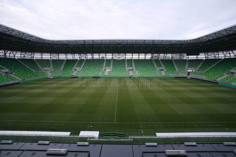 Estádio com anfiteatros imagens de stock royalty free