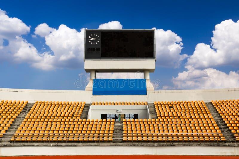 Estádio com placar fotografia de stock royalty free