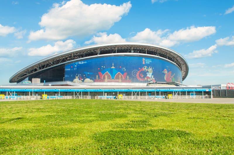 Estádio da arena de Kazan durante FIFA 2018 foto de stock