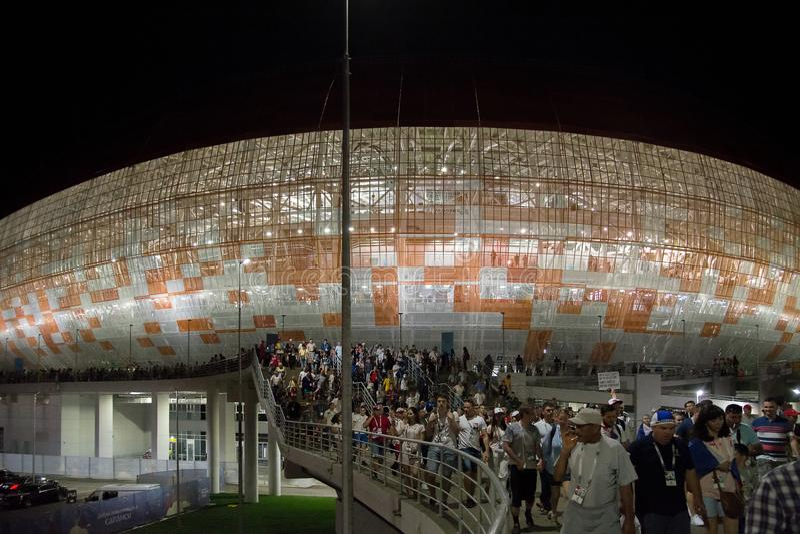 Estádio da arena de Mordóvia imagens de stock royalty free