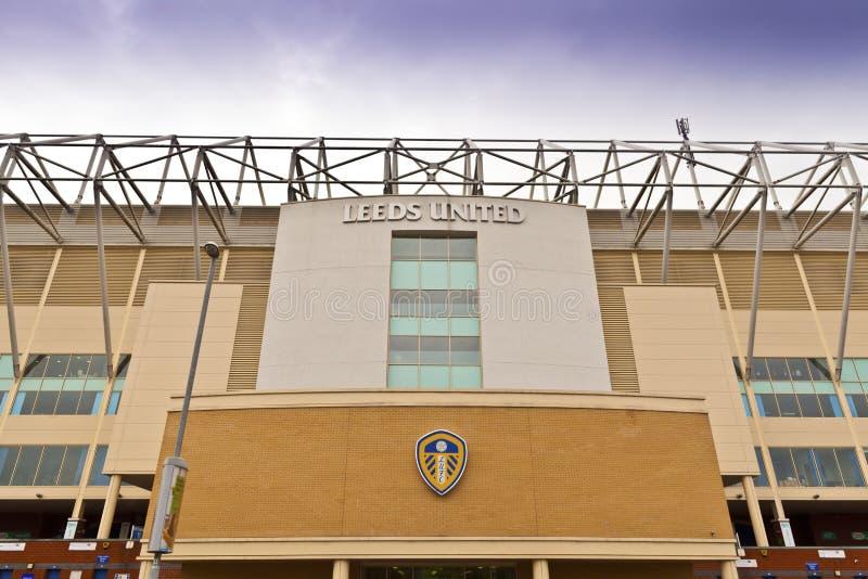 Estádio da estrada de Elland em Leeds, ocidental - yorkshire imagens de stock