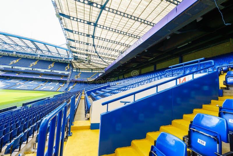 Estádio da ponte de Chelsea FC Stamford imagens de stock