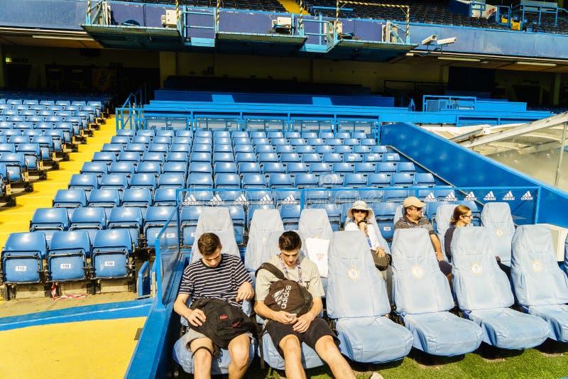Estádio da ponte de Chelsea FC Stamford fotografia de stock royalty free