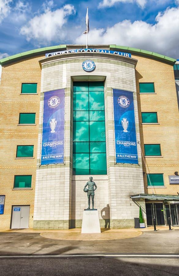 Estádio da ponte de Stamford, casa de Chelsea Football Club, Londres fotos de stock