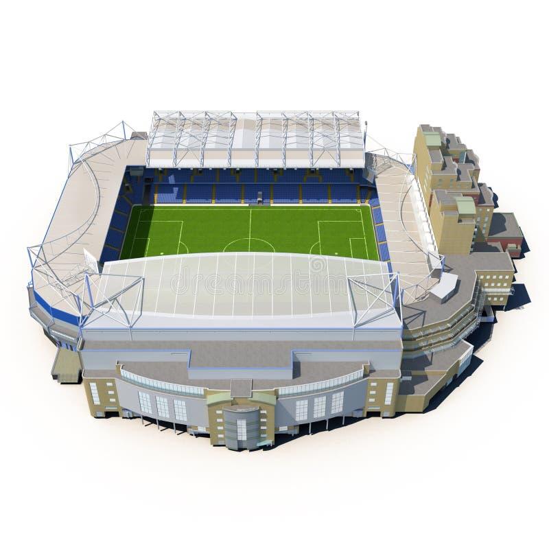 Estádio da ponte de Stamford na ilustração 3D branca ilustração stock