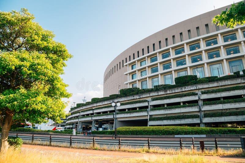 Estádio de basebol da abóbada de Fukuoka em Fukuoka, Japão fotografia de stock royalty free