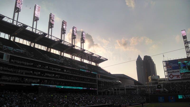 Estádio de basebol de Cleveland foto de stock royalty free