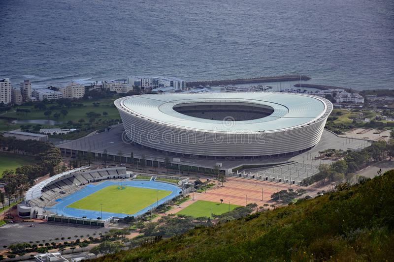 Estádio de Cape Town, Cape Town, África do Sul fotos de stock