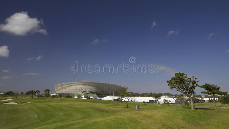 Estádio de Cape Town para do futebol o copo 2010 de mundo foto de stock royalty free