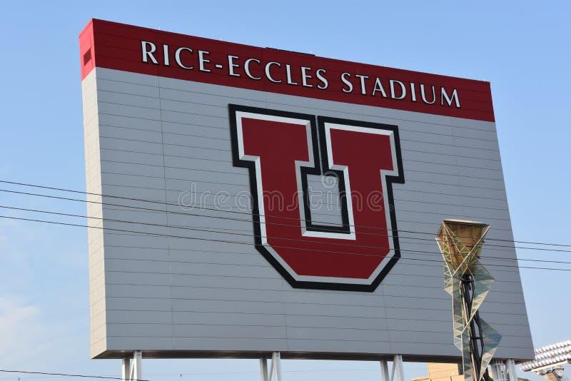 Estádio de Eccles do arroz em Salt Lake City, Utá fotos de stock