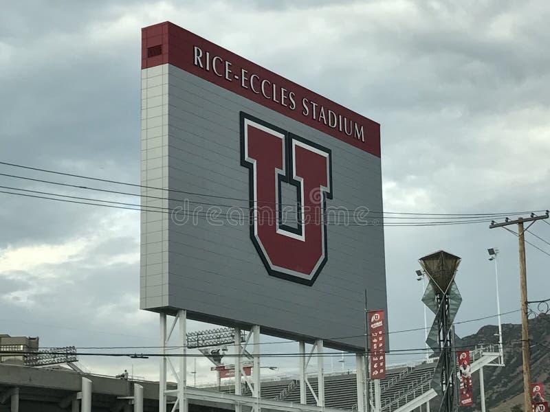 Estádio de Eccles do arroz em Salt Lake City, Utá imagem de stock royalty free