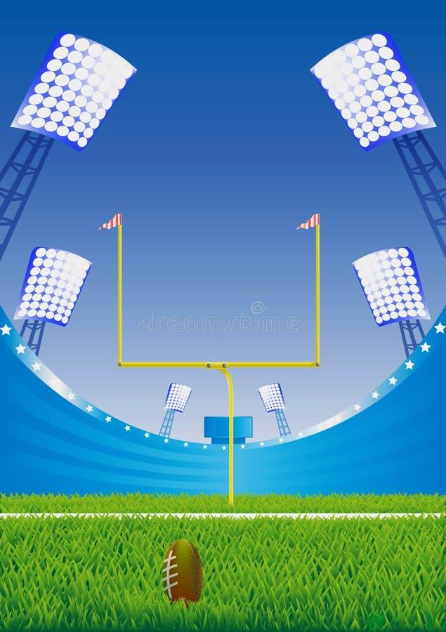 Estádio de futebol americano. imagem de stock royalty free