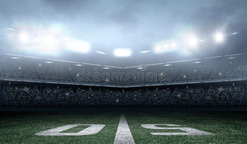 Estádio de futebol americano imagem de stock royalty free