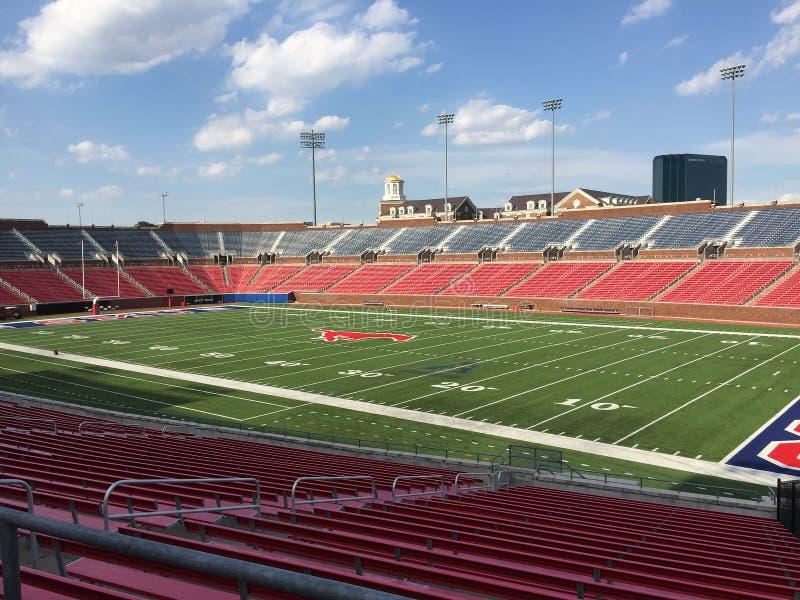 Estádio de futebol Dallas TX de SMU fotografia de stock