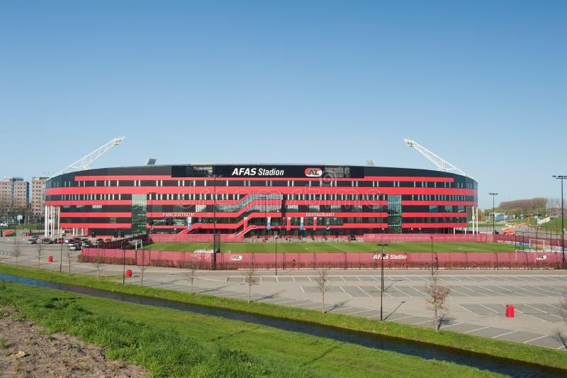 Estádio de futebol de AZ Alkmaar fotos de stock royalty free
