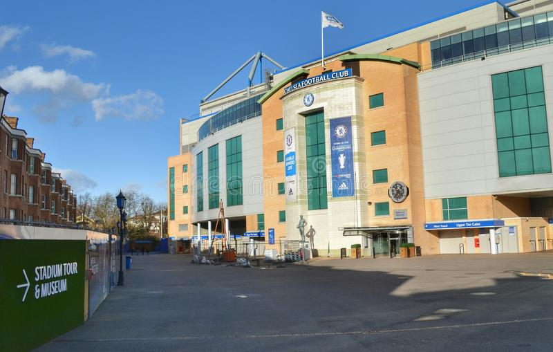 Estádio de futebol de Chelsea Stamford Bridge fotos de stock