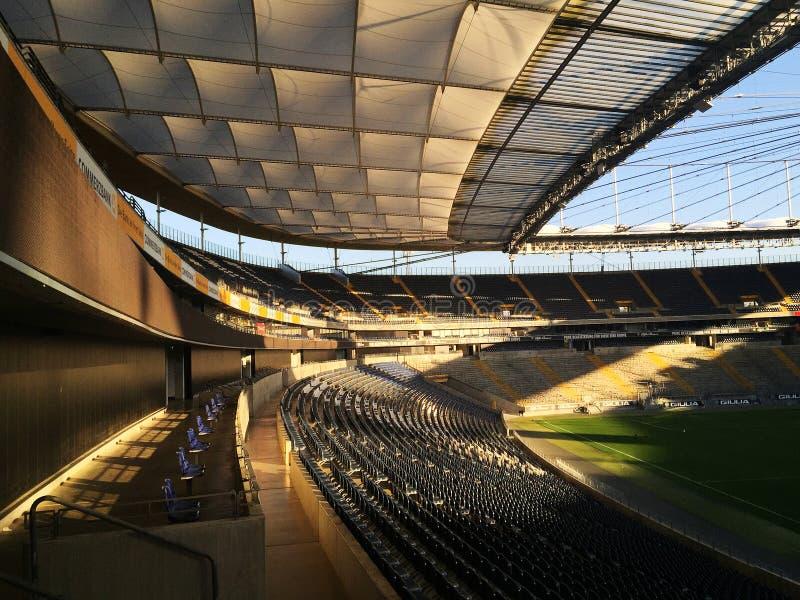 Estádio de futebol de Francoforte - arena de Commerzbank foto de stock royalty free