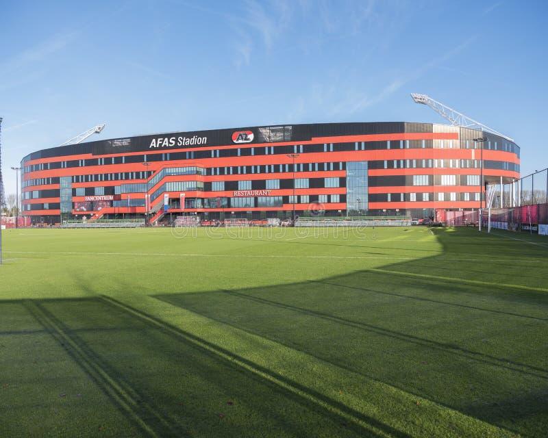 Estádio de futebol do az alkmaar nos Países Baixos imagens de stock royalty free