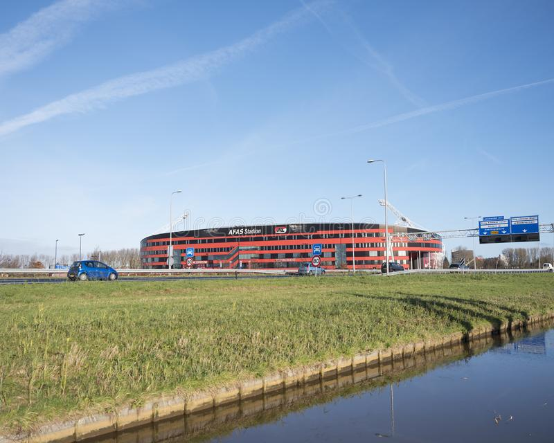 Estádio de futebol do az alkmaar nos Países Baixos imagem de stock royalty free