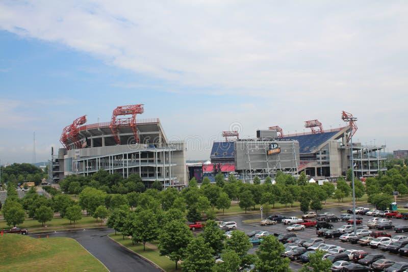 Estádio de futebol do campo de LP em Nashville imagens de stock