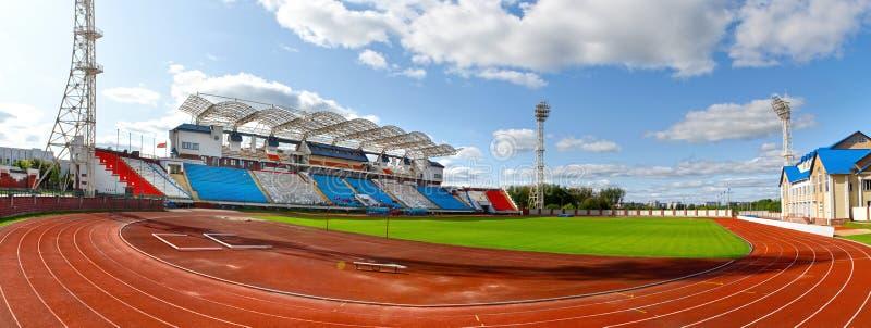 Estádio de futebol em Vitebsk fotografia de stock royalty free