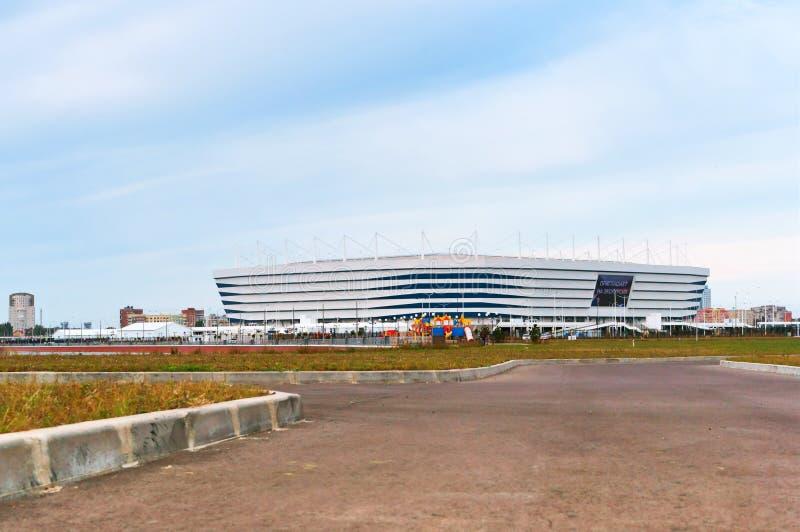 Estádio de futebol, facilidade de esportes moderna fotografia de stock royalty free