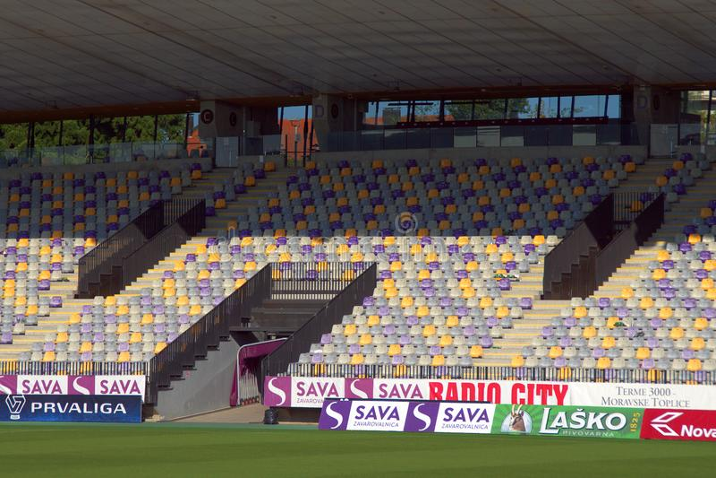 Estádio de futebol Maribor de Ljudski Vrt, Eslovênia imagem de stock