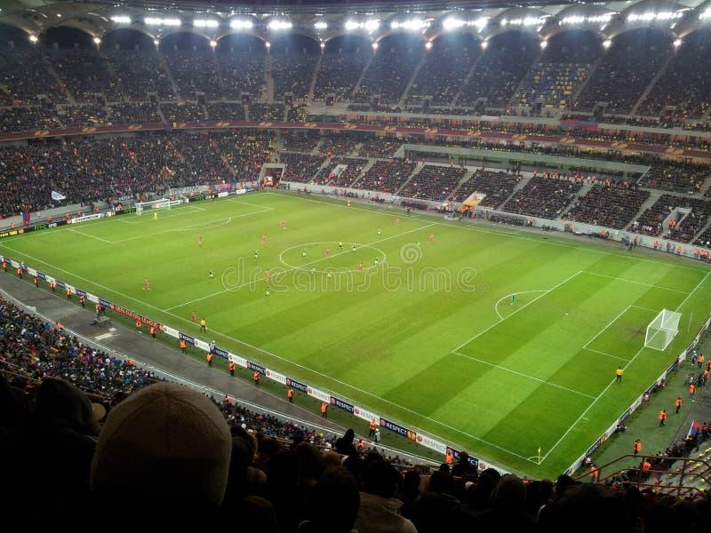 Estádio de futebol nacional da arena imagens de stock