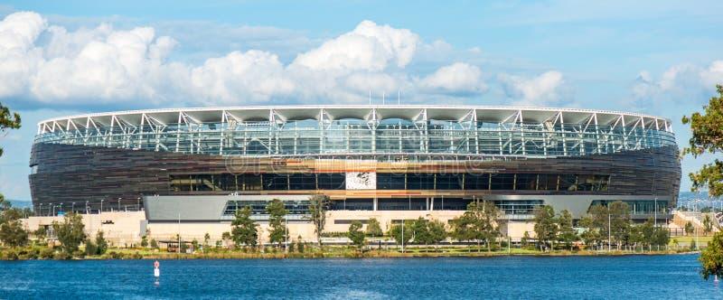 Estádio de futebol novo no australiano ocidental foto de stock