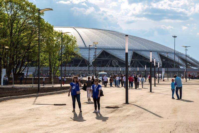 Estádio de futebol de Samara Arena foto de stock royalty free