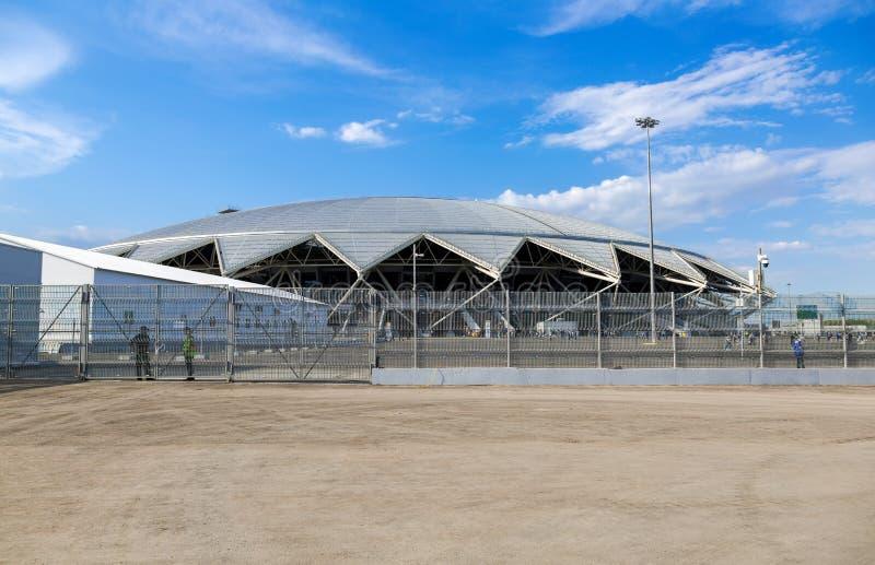 Estádio de futebol de Samara Arena imagens de stock royalty free