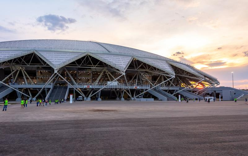 Estádio de futebol de Samara Arena imagem de stock