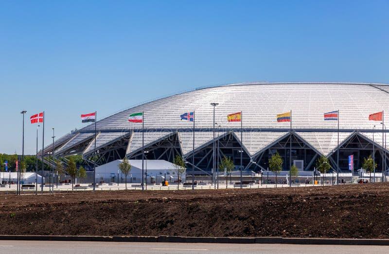 Estádio de futebol de Samara Arena fotografia de stock royalty free