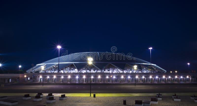 Estádio de futebol de Samara Arena Samara - a cidade que hospeda o campeonato do mundo de FIFA em Rússia em 2018 imagem de stock royalty free