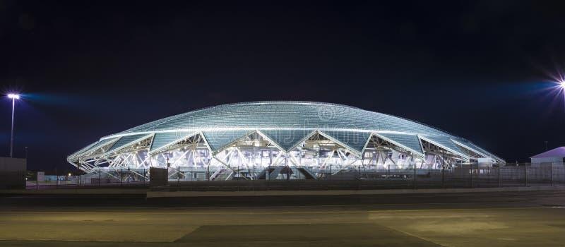 Estádio de futebol de Samara Arena Samara - a cidade que hospeda o campeonato do mundo de FIFA em Rússia em 2018 foto de stock