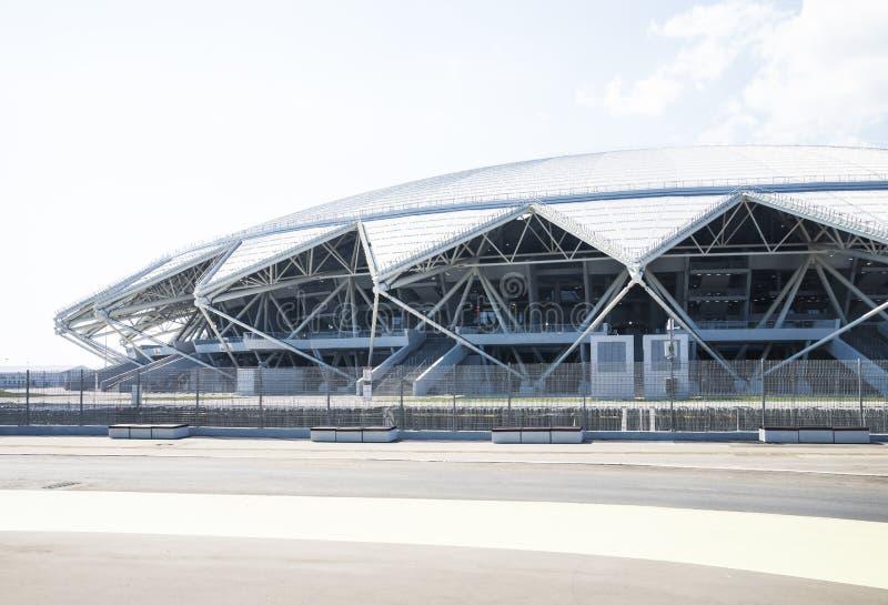 Estádio de futebol de Samara Arena Samara - a cidade que hospeda o campeonato do mundo de FIFA em Rússia em 2018 imagem de stock